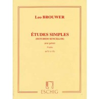 BROUWER L. ETUDES SIMPLES 3ME SERIE GUITARE