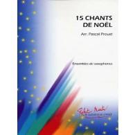 15 CHANTS DE NOEL ENSEMBLE DE SAXOPHONES