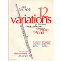 MOYSE L. 12 VARIATIONS SUR UN THEME DE SCHUBERT FLUTE