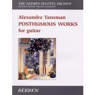 TANSMAN A. POSTHUMOUS WORKS GUITARE