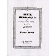 BLOCH E. SUITE HEBRAIQUE ALTO