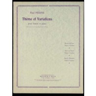 PIERNE P. THEME ET VARIATIONS BASSON