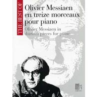 MESSIAEN O. EN TREIZE MORCEAUX PIANO