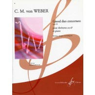 WEBER C.M. GRAND DUO CONCERTANT OP 48 CLARINETTE