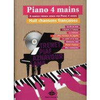 PIANO 4 MAINS CHANSONS FRANCAISES