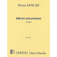 SANCAN P. PIECES ENFANTINES 2ME DEGRE PIANO
