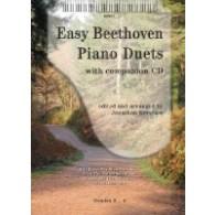 BEETHOVEN EASY PIANO DUETS PIANO 4 MAINS