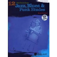 MINTZER B. 12 MEDIUM EASY JAZZ BLUES & FUNK ETUDES INST. BB