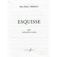 THIRAULT M.D. ESQUISSE VIOLONCELLE