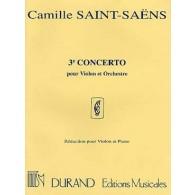 SAINT-SAENS C. 3ME CONCERTO OP 61 VIOLON