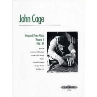 CAGE J. MUSIQUE POUR PIANO PREPARE VOL 1