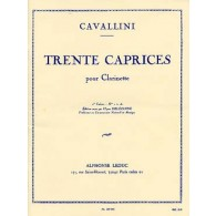 CAVALLINI E. 30 ETUDES CAHIER 1 CLARINETTE