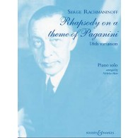RACHMANINOV S. RHAPSODY ON A THEME OF PAGINI PIANO