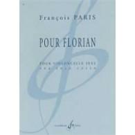 PARIS F. POUR FLORIAN VIOLONCELLE SOLO