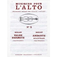 MOZART W.A. VALSE FAVORITE ALTO PIANO