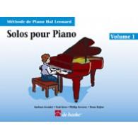 HAL LEONARD LES SOLOS POUR PIANO VOL 1