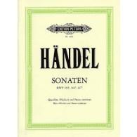 HAENDEL G.F. SONATES HWV 359B, 363B, 367B FLUTE