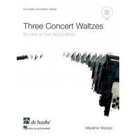 WECKER W. THREE CONCERT WALTZES ACCORDEON