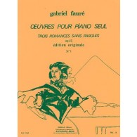 FAURE G. ROMANCE SANS PAROLES OP 17 N°1 PIANO