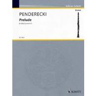 PENDERECKI K. PRELUDE CLARINETTE SIB