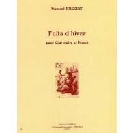 PROUST P. FAITS D'HIVER CLARINETTE SIB