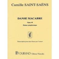 SAINT-SAENS C. DANSE MACABRE OP 40 2 PIANOS 8 MAINS