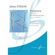 STRAUSS J. VERGNUGUNGSZUG 2 FLUTES PICCOLOS PIANO