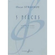 STRASNOY O. 5 PIECES PIANO