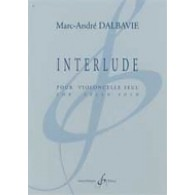 DALBAVIE M.A. INTERLUDE VIOLONCELLE