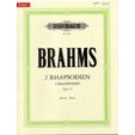 BRAHMS J. RHAPSODIES OP 79 PIANO