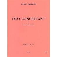 MILHAUD D. DUO CONCERNANT CLARINETTE