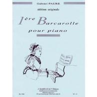 FAURE G. BARCAROLLE OP 26 N°1 PIANO