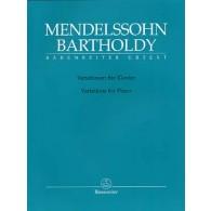 MENDELSSOHN F. VARIATIONS SERIEUSES PIANO