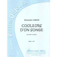 CARLIN A. COULEURS D'UN SONGE FLUTE