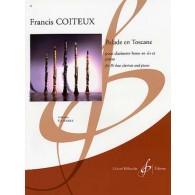 COITEUX F. BALLADE EN TOSCANE CLARINETTE BASSE