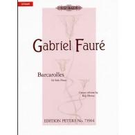 FAURE G. BARCAROLLES PIANO
