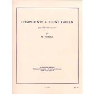 TOMASI H. COMPLAINTE DU JEUNE INDIEN CLARINETTE BASSE
