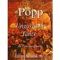 POPP W. DANSES HONGROISES OP 308 FLUTE