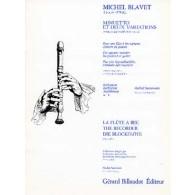 BLAVET M. MINUETTO ET DEUX VARIATIONS FLUTE SOPRANO