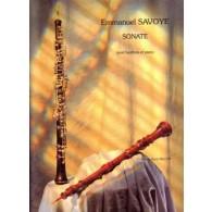 SAVOYE E. SONATE HAUTBOIS