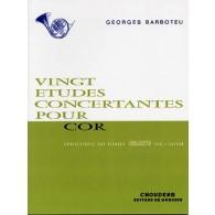 BARBOTEU G. ETUDES CONCERTANTES COR