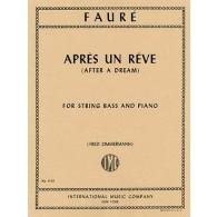 FAURE G. APRES UN REVE CONTREBASSE