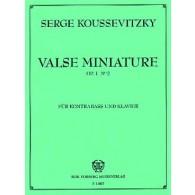 KOUSSEVITZKY S. VALSE MINIATURE OP 2 N°2 CONTREBASSE