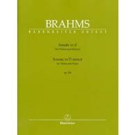 BRAHMS J. SONATE N°3 OP 108 VIOLON
