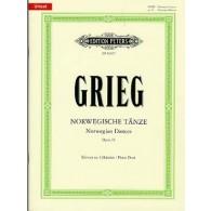 GRIEG E. DANSES NORVEGIENNES OP 35 4 MAINS