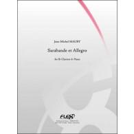MAURY J.M. SARABANDE ET ALLEGRO CLARINETTE