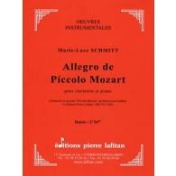 SCHMITT M.L. ALLEGRO DE PICCOLO MOZART CLARINETTE