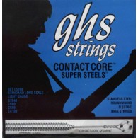 JEU DE CORDES BASSE GHS STAINLESS STEEL FLATWOUND 45-105 M5200