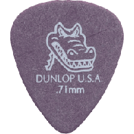 SACHET DE 12 MEDIATORS DUNLOP GATOR GRIP 417P71 0.71 MM