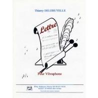 DELERUYELLE T. LETTRE VIBRAPHONE